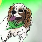 Digital painting of this pet dog