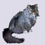 Digital pet painting of a cat named Professor TJ
