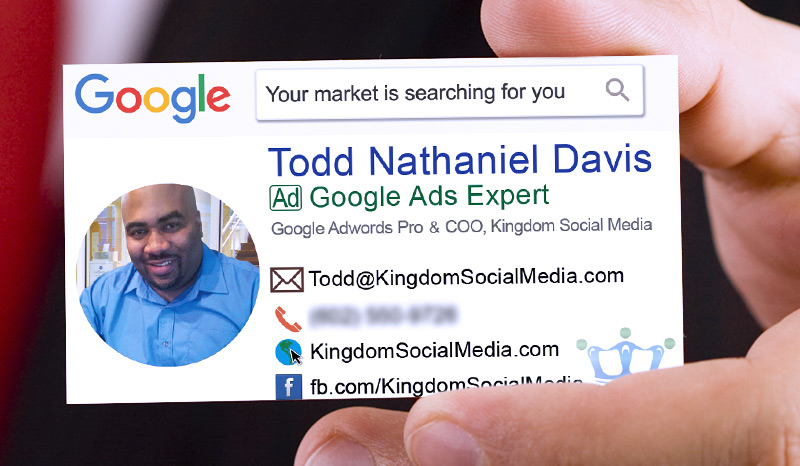 Business card design for Google Ads Expert