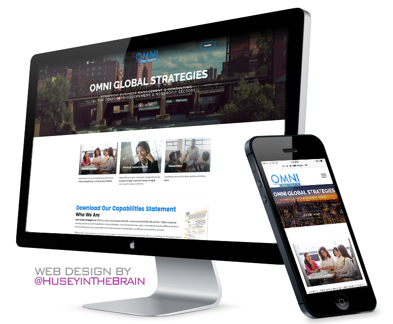 Web design for Omni Global Strategies
